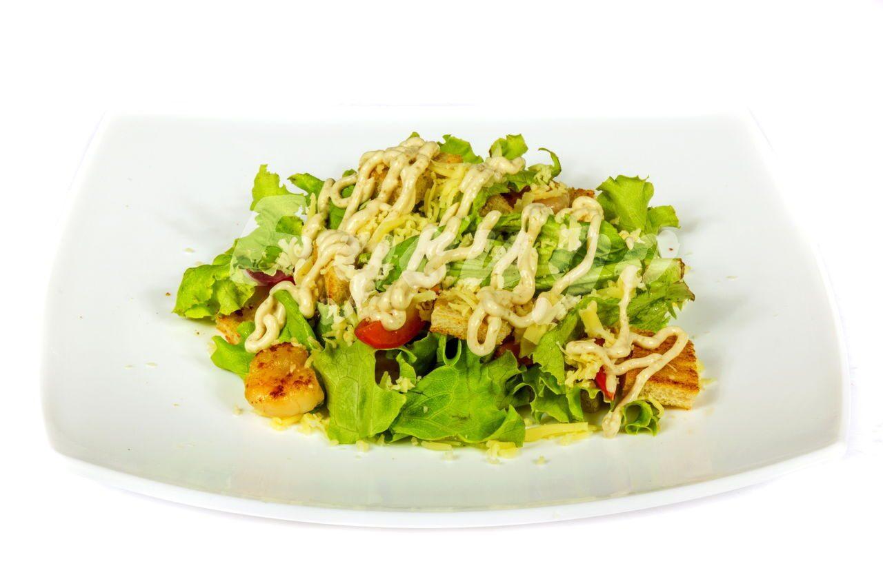 Салат цезарь с креветкой пошаговый рецепт